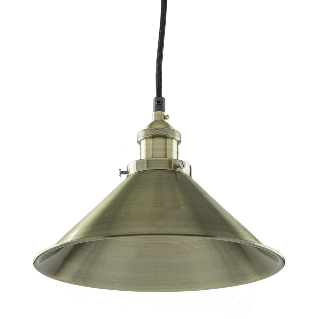 Sunlite 07007-SU E26 Canopy Cage Antique Brass Pendant Light Fixture