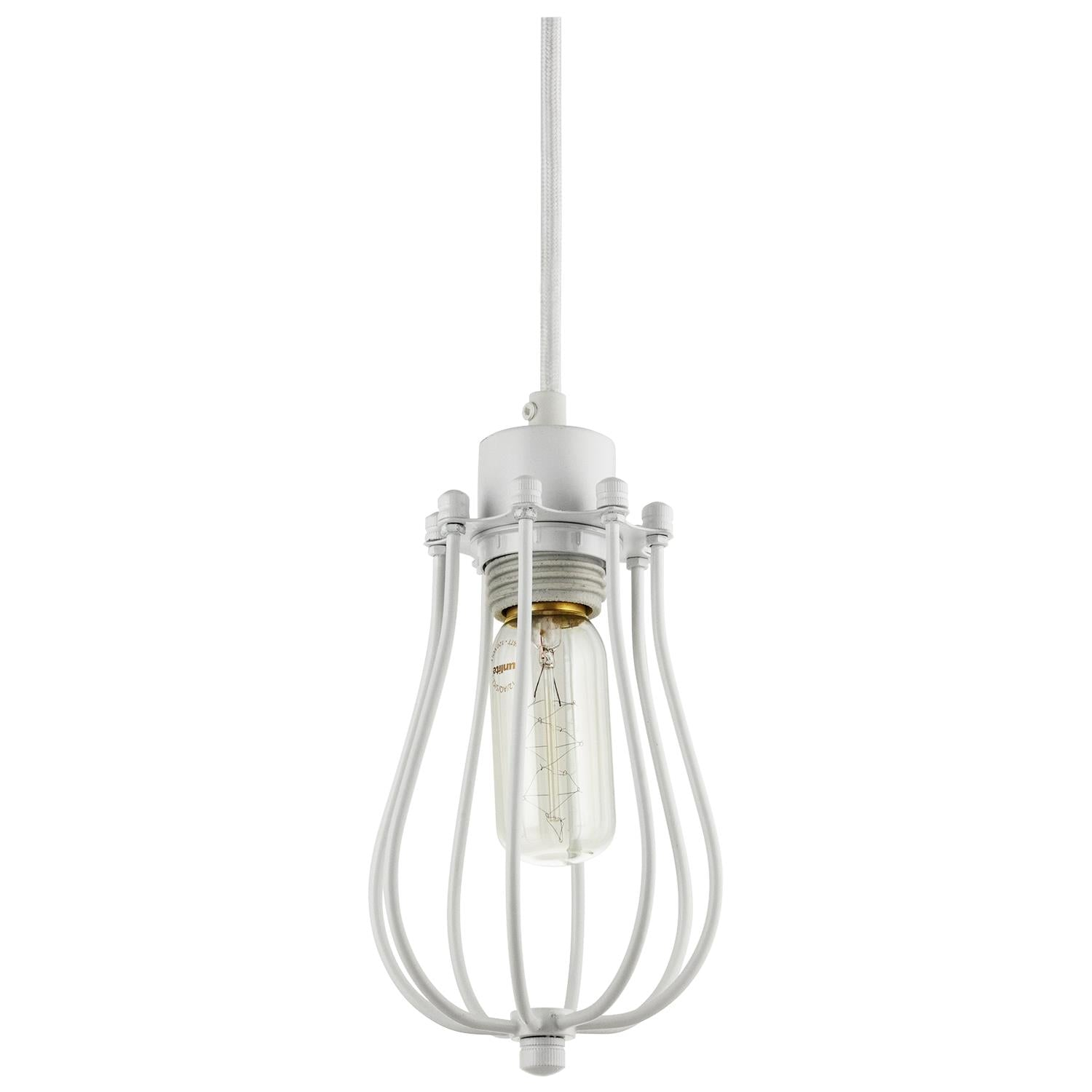 SUNLITE 07014-SU E26 Antique Style White Pendant Light Fixture