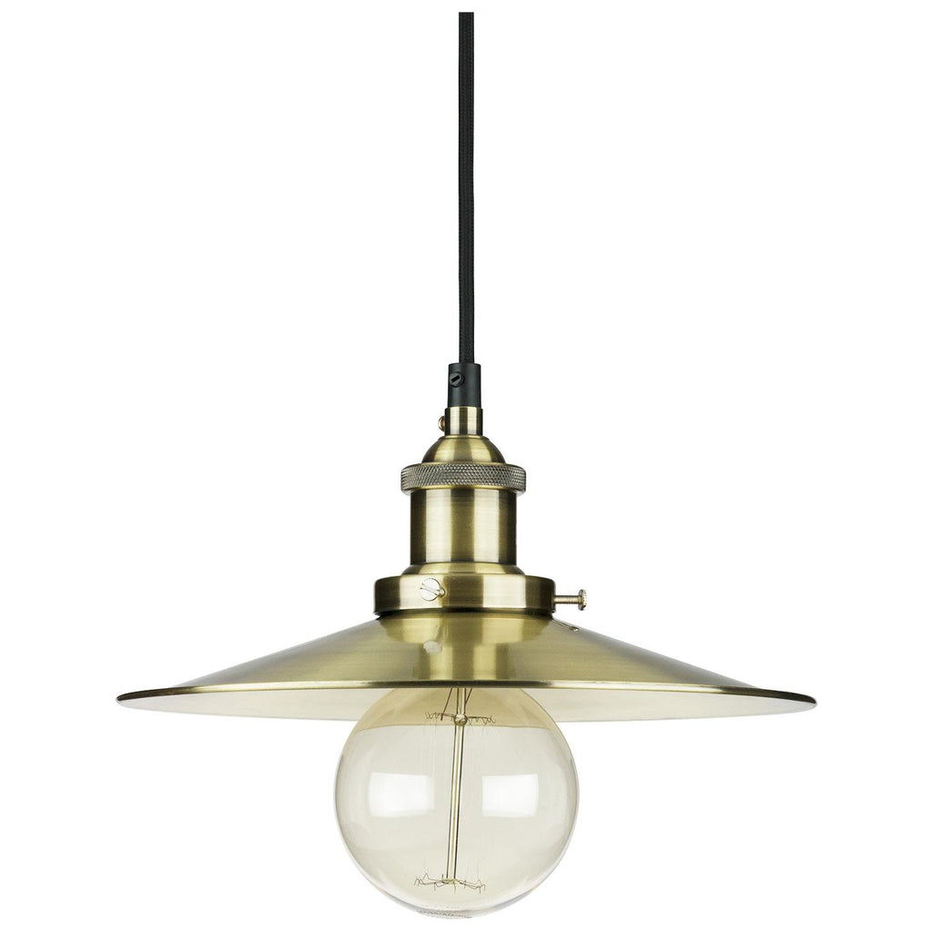 Sunlite 07016-SU E26 Canopy Cage Antique Brass Pendant Light Fixture