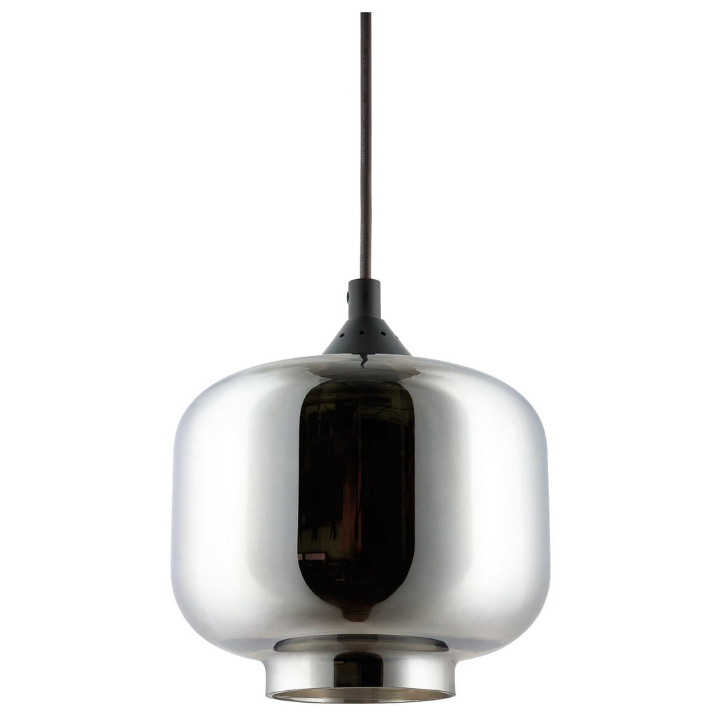 "SUNLITE E26 9"" Tinted Glass Sphere Brushed Nickel Pendant Light Fixture"
