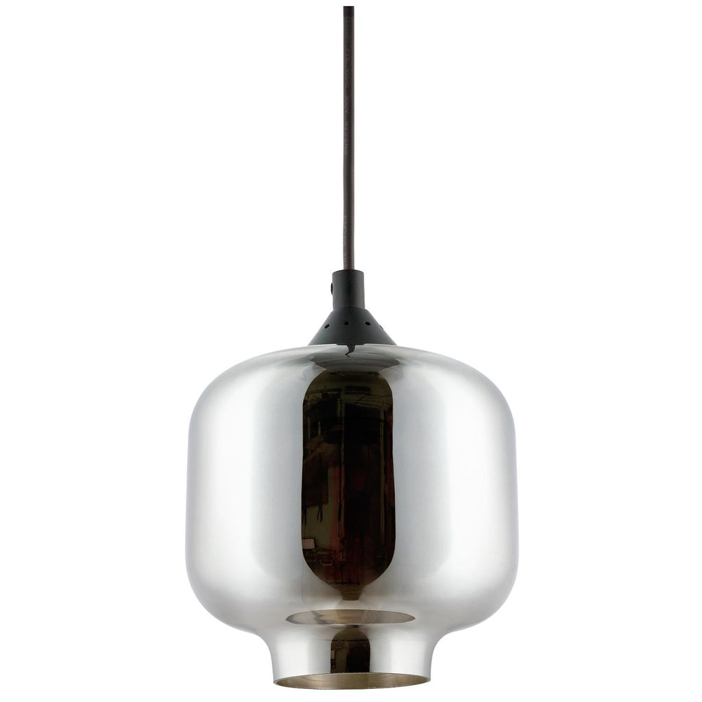 "SUNLITE E26 6.5"" Tinted Glass Sphere Brushed Nickel Pendant Light Fixture"