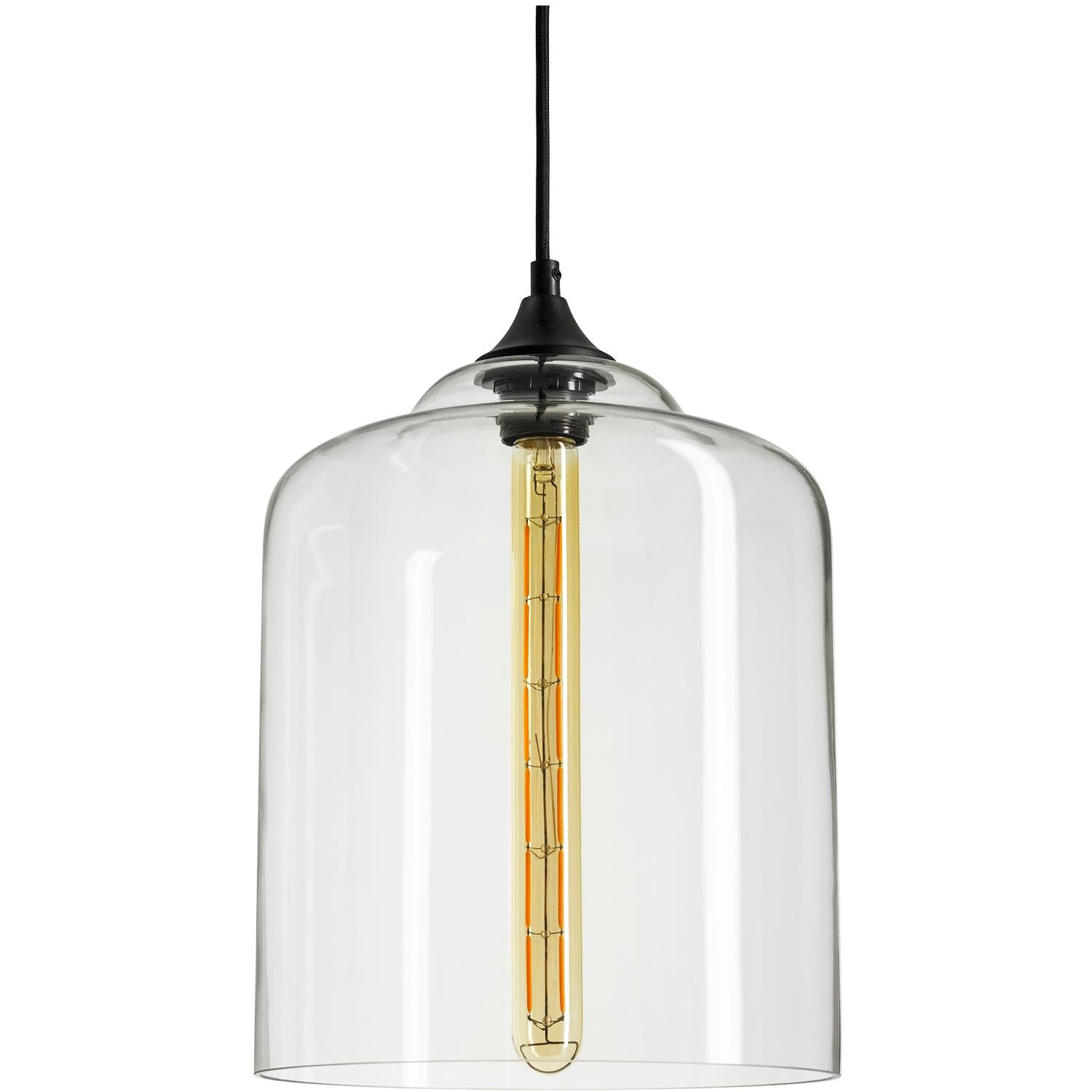 SUNLITE 07046-SU E26 Antique Style Crystal Glass Collection Black Pendant Light Fixture