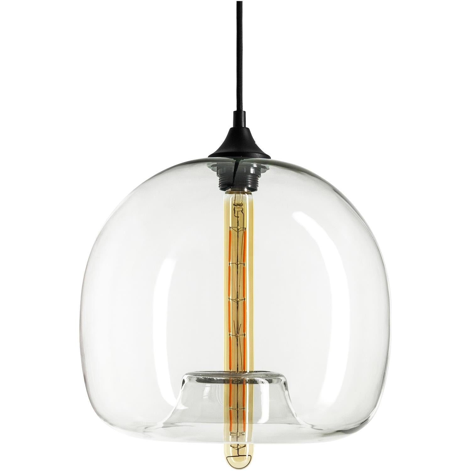 "Sunlite 07048-SU 12"" Glass Sphere Collection Pendant Vintage Antique Fixture"