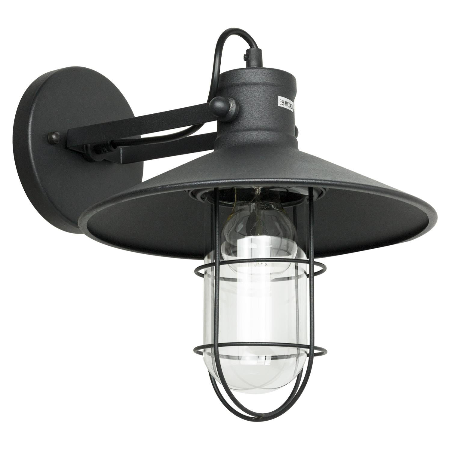 SUNLITE 07054-SU E26 Canopy Cage Oil Black Wall Lighting Fixture
