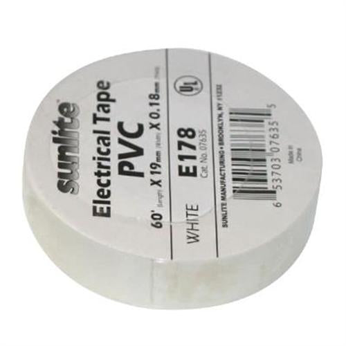 SUNLITE Electrical Tape White E178