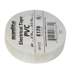 SUNLITE 10pcs Electrical Tape White E178