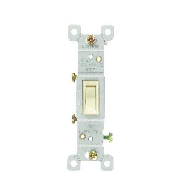 SUNLITE 12pcs IVORY ON/OFF SWITCH GROUNDED E506 Carded
