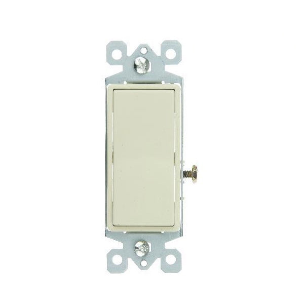 SUNLITE 3 Way IVORY GROUNDED ROCKER SWITCH E512 Carded