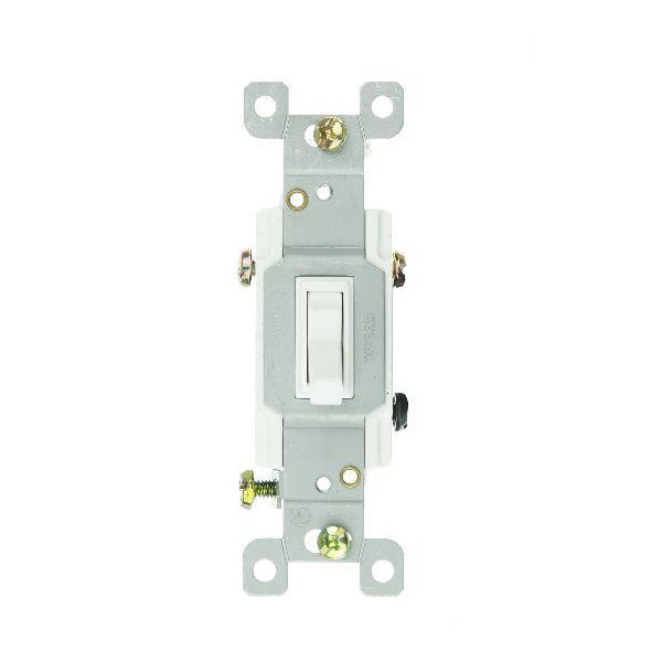 SUNLITE WHITE 3 WAY ON/OFF SWITCH GROUNDED E507 Boxed