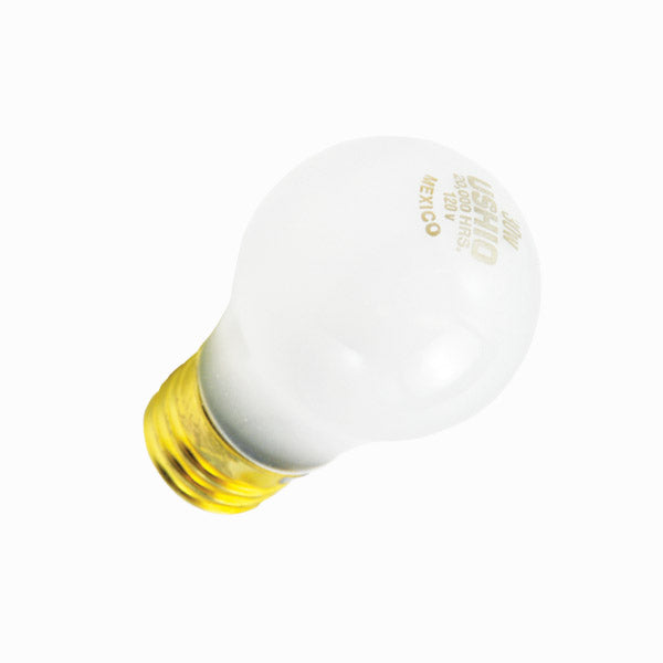 Ushio 25w 120v A-Shape A19 E26 Yellow Incandescent Sign Lamp Bulb