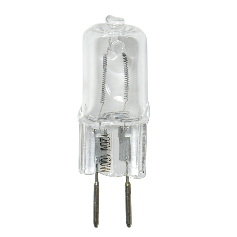 BulbAmerica 100W 120V GY6.35 Bi-Pin Base Clear Halogen Bulb