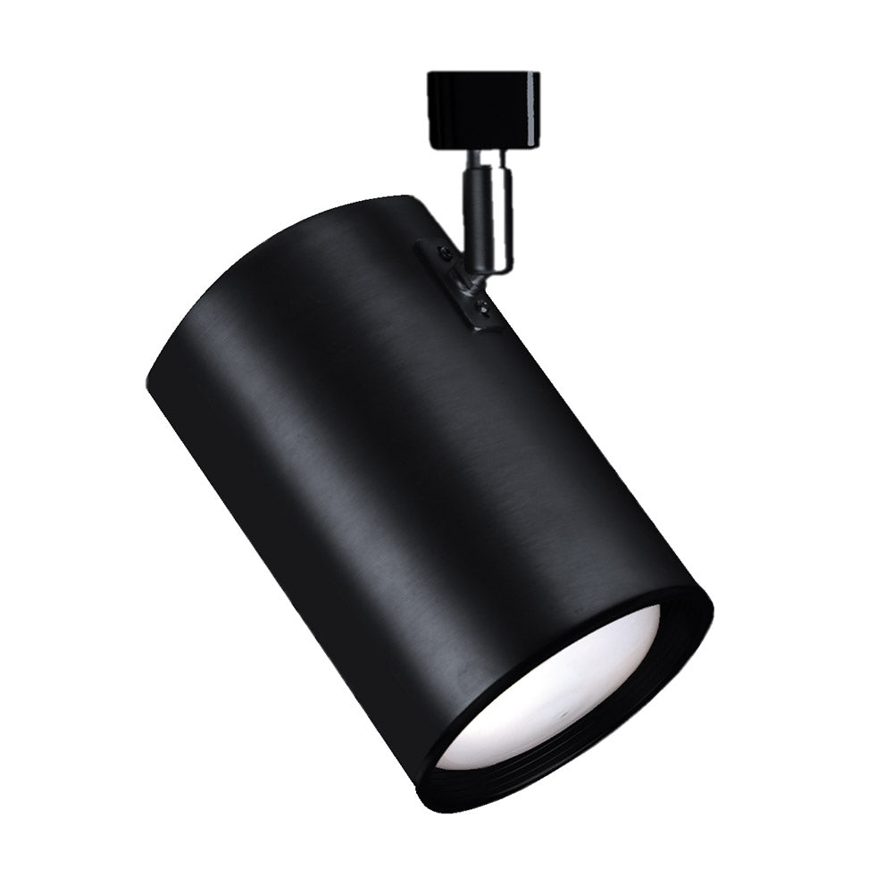 NICOR 75W Black Flat Back Cylinder Track Light