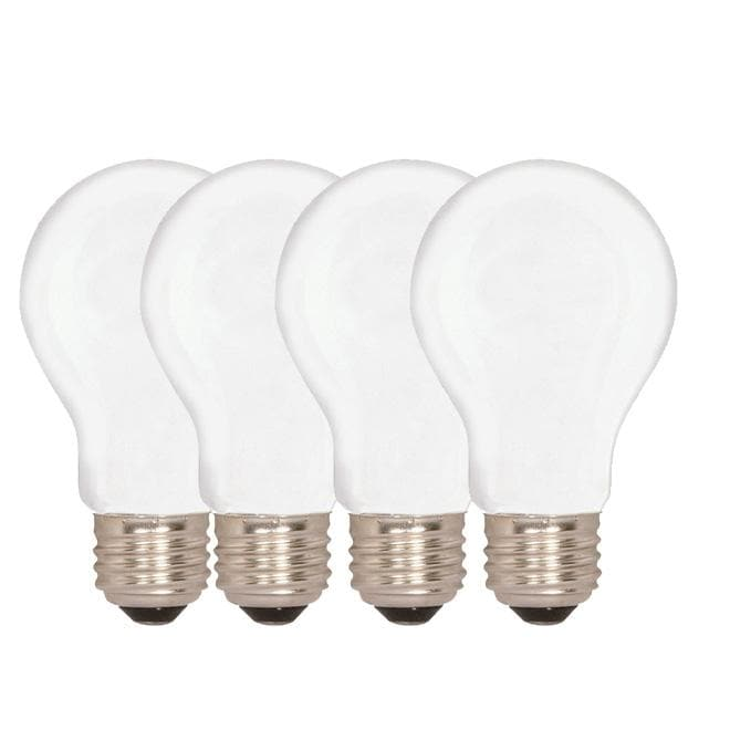 Sylvania 52W 130V A19 Frosted E26 Base Incandescent - 4 bulbs / Pack
