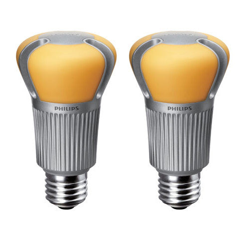 PHILIPS 12 5W A19 Dimmable Soft White Light equiv  60w - 2 Bulbs Package  Deal