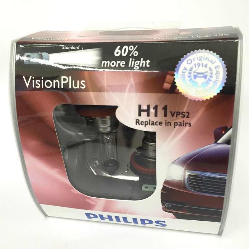 Philips H11 12362 - Vision Plus Headlight Automotive lamp - 2 bulbs