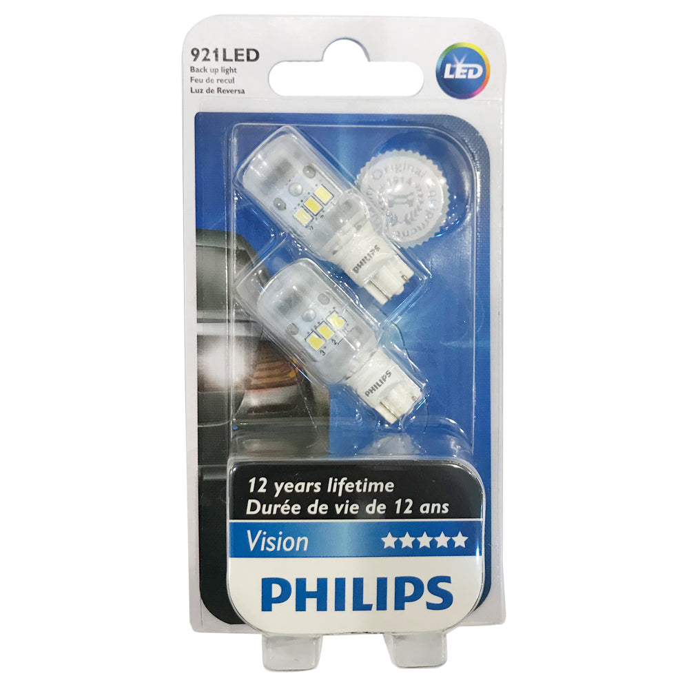 Philips 921 LED 2.2W Xenon White Back Up Light - 2 Bulbs