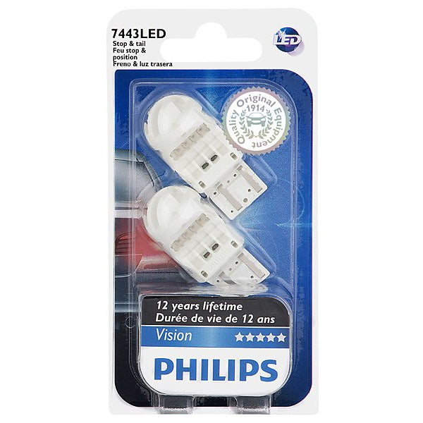 Philips 7443 LED Red Stop and Tail automotive light - 2 Bulbs