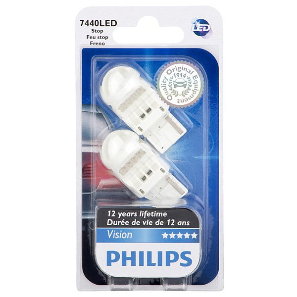 Philips 7440 LED Red Stop and Tail automotive light - 2 Bulbs