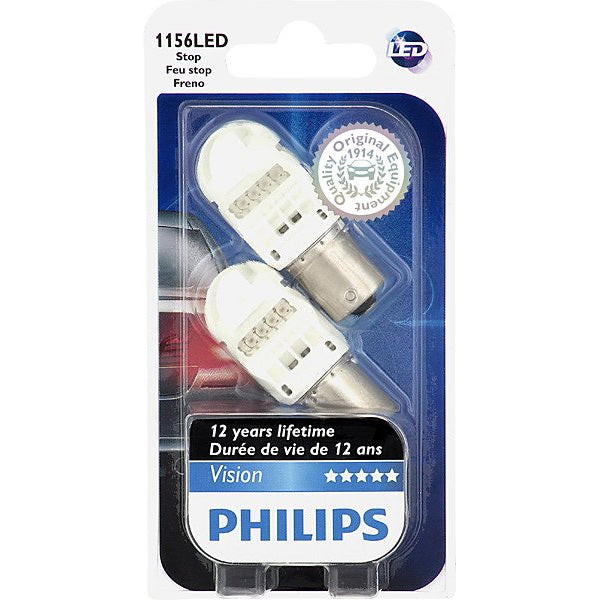 Philips 1156 Red LED P21W Stop and Tail automotive light - 2 Bulbs
