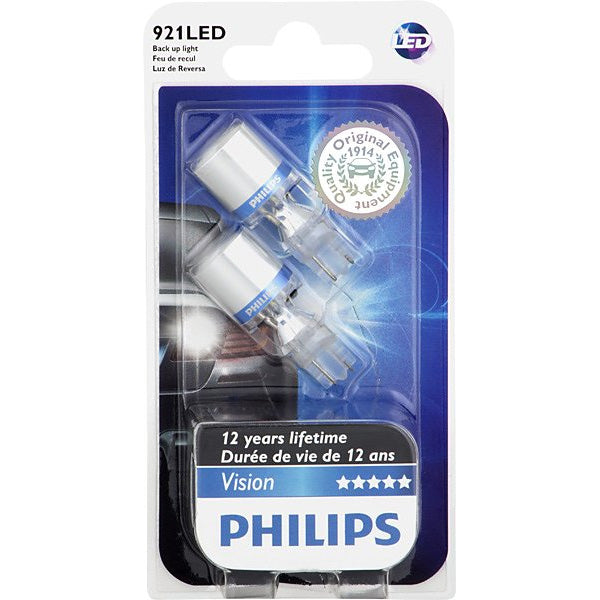 Philips 921 LED W16W 6000K Xenon White Back Up Light - 2 Bulbs