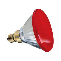GE  85WM - Red 85w PAR38 120v Light Bulb