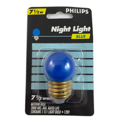 Philips 7.5w S11 Blue Incandescent Night Light Bulb  - E26 Base