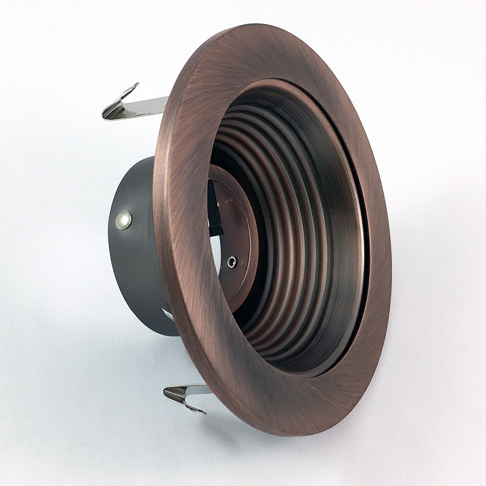 NICOR 4 in. Bronze Recessed Baffle Trim