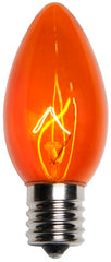 25 Bulbs - C9 Triple Dipped Transparent Amber, 7 Watt lamp