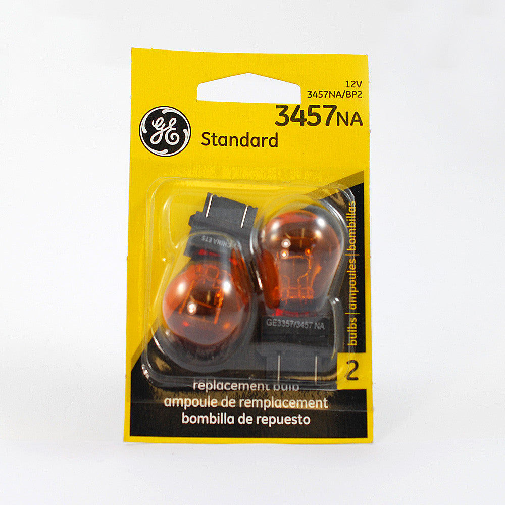 GE  3457 NA - Amber 27w 12.8v S8 Automotive lamp - 2 Bulbs