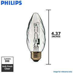 Philips 25w 120v F10.5 E26 Clear 2900k Halogen Decorative Light Bulb