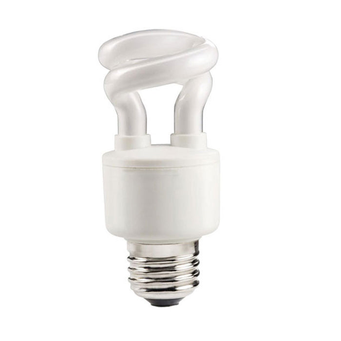 Philips 5w 120v Mini Twist E26 2700K WW Decorative Fluorescent Light Bulb