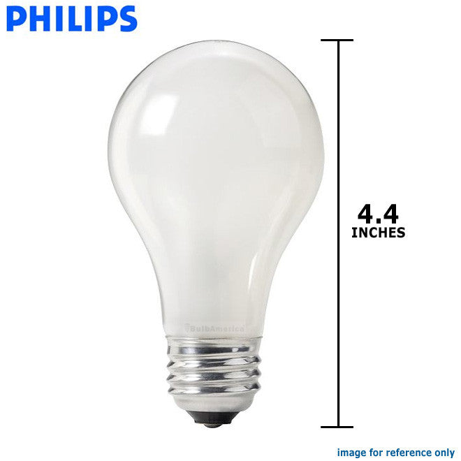 Philips 50w 120v A-Shape A19 Frost Silicone E26 Incandescent Light Bulb