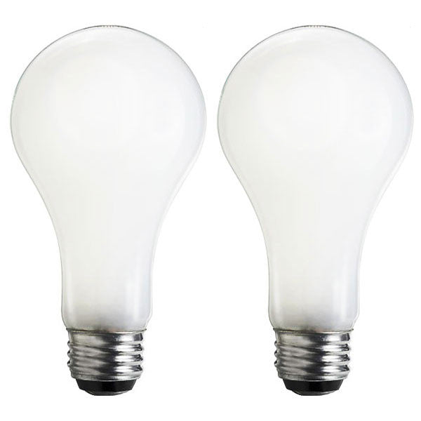 Philips 100w 120v A21 Frost Silicon Cover Incandescent - 2 Light Bulbs