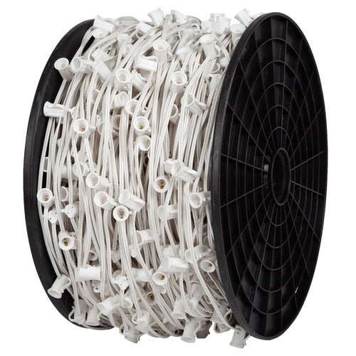 "C7 Light Spool, 1000 Ft. Length, 6"" Spacing, 7 Amp SPT1 White Wire"