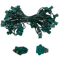 "C7 Light Stringer, 50 Ft. Length, 18"" Spacing, 5 Amp SPT1 Green Wire"