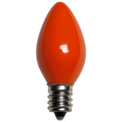 25 Bulbs - C7 Opaque Orange, 5 Watt lamp