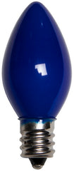 25 Bulbs - C7 Opaque Blue, 5 Watt lamp