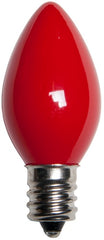 25 Bulbs - C7 Opaque Red, 5 Watt lamp