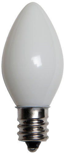 25 Bulbs - C7 Opaque White, 5 Watt lamp