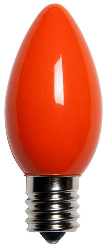 25 Bulbs - C9 Opaque Orange, 7 Watt lamp