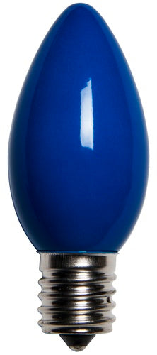 25 Bulbs - C9 Opaque Blue, 7 Watt lamp