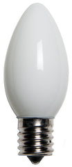25 Bulbs - C9 Opaque White, 7 Watt lamp