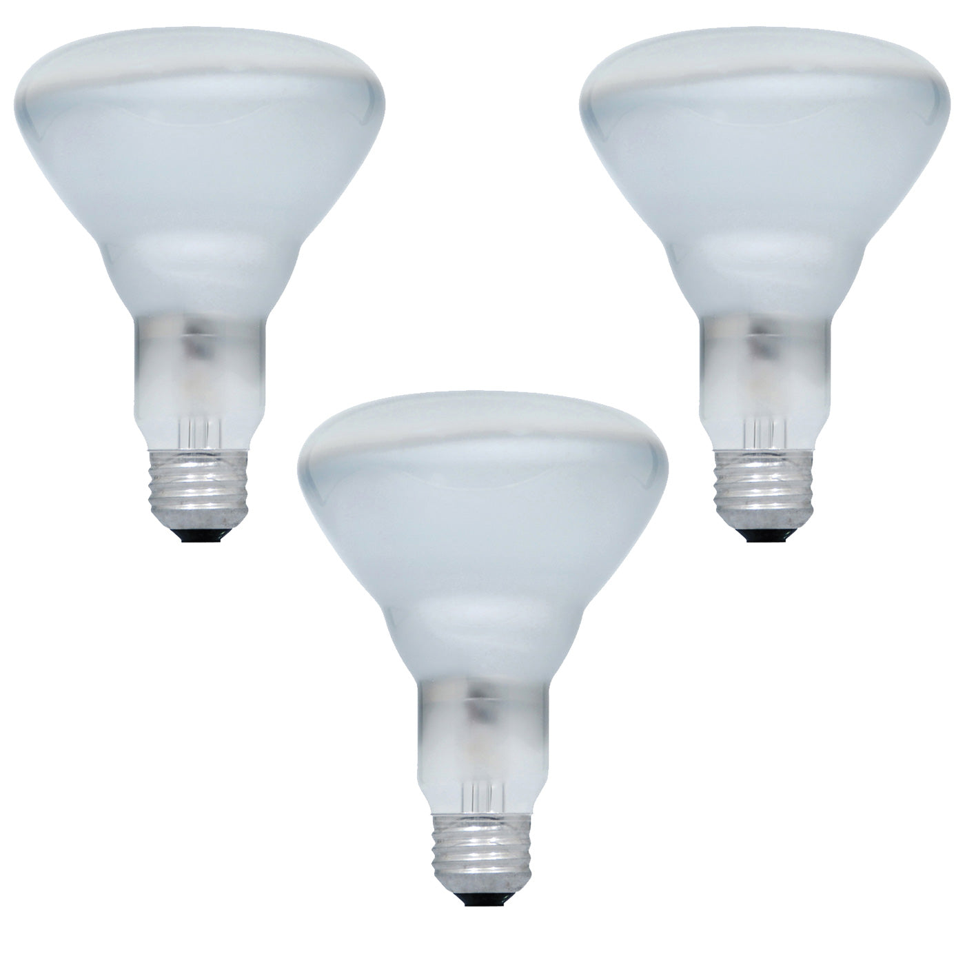 3PK - SYLVANIA 65w BR30 600Lm Flood 120V Incandescent Light Bulb