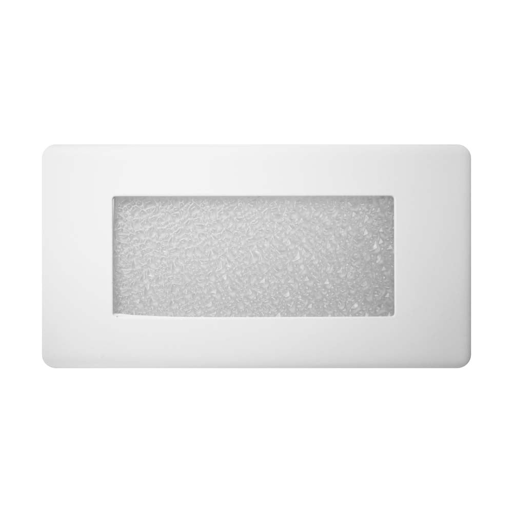 NICOR 10 in. Textured Frosted Glass Step Light Faceplate Cover