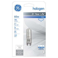 GE 60w 120v T4 G9 2800k Single Ended Halogen Light Bulb