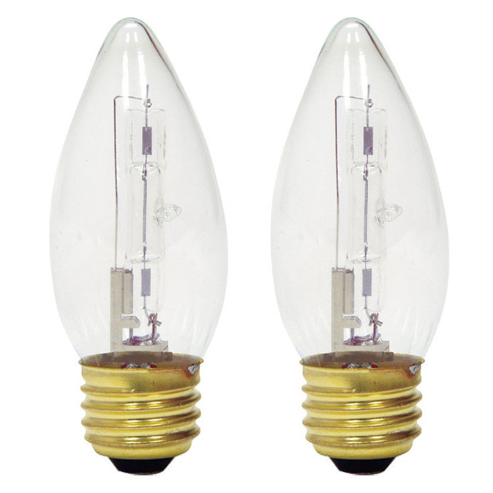 GE 16760 25w 120v B10 Blunt Tip Candle E26 25BM/H Decor Torpedo Halogen -2 bulbs