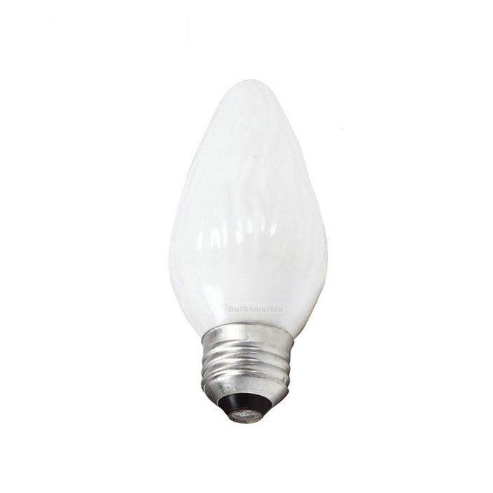 Philips 40w 120v F15 White E26 DuraMax Deco Flame Incandescent Light Bulb - 2 pack