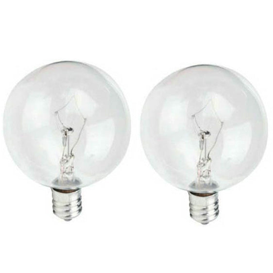 2Pk- Philips 40w G16.5 DuraMax Clear Decorative E12 base Incandescent Light Bulb