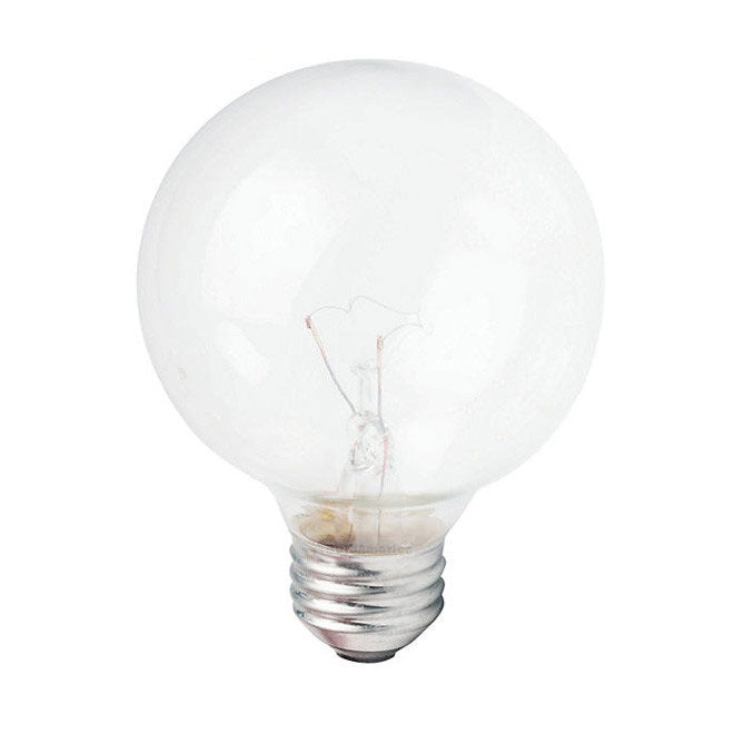 Philips 60w 120v Globe G25 Clear E26 DuraMax Deco Incandescent Light Bulb