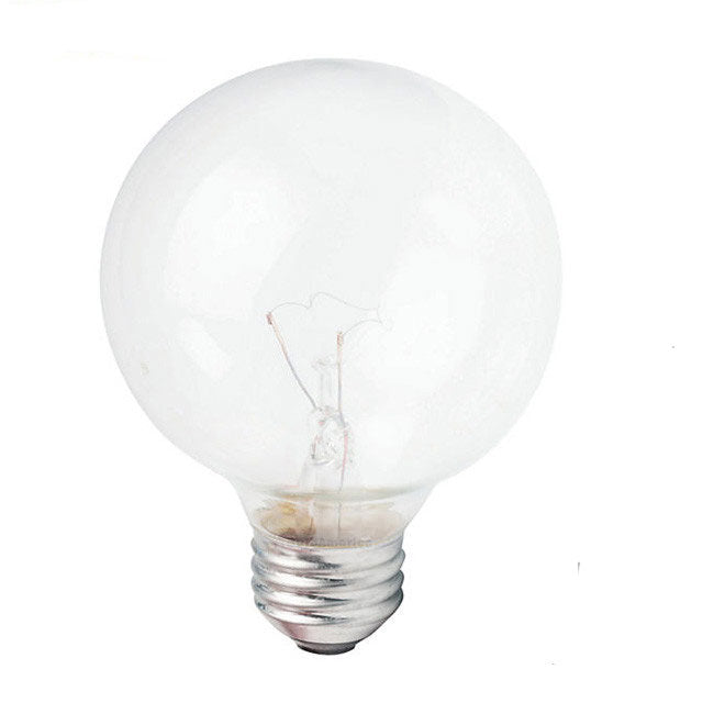 Philips 25w 120v Globe G25 Clear E26 DuraMax Deco Incandescent Light Bulb